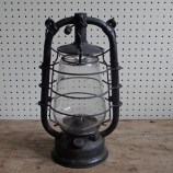 Black hurricane lamp