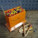 Harlequin matchbox and matches