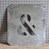 metal ampersand stencil