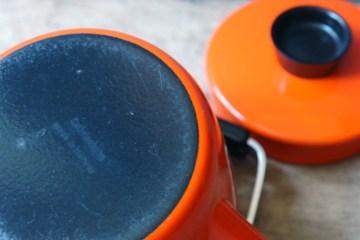 Vintage orange Cathrineholm kettle base | H is for Home