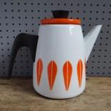 Orange Cathrineholm Lotus coffee pot