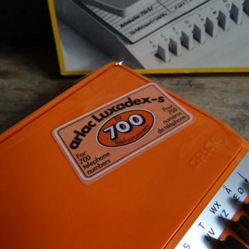 Orange Arlac Luxadex s desk address book