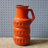 Orange Scheurich vase