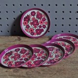 Pink Worcester Ware coasters