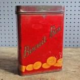vintage red Macfarlane's biscuit tin