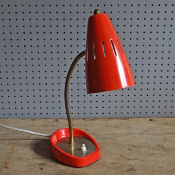 Red Pifco desk lamp