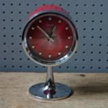 Red vintage Rhythm pedestal alarm clock | H is for Home