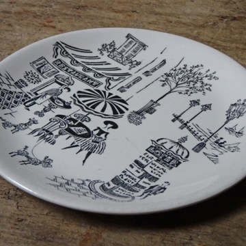 Vintage Ridgway Parisienne plate | H is for Home