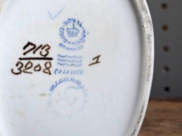 Vintage Royal Copenhagen vase base stamp