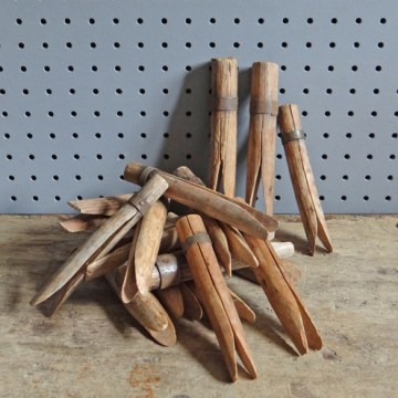 Rustic clothes pegs