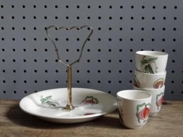 Salad Days Staffordshire egg cup set