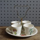 Salad Days Staffordshire egg cup set