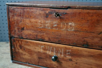 Wooden twine and seed box