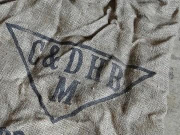 seed potato hessian sack