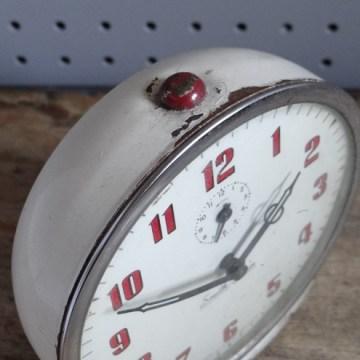 White Smith alarm clock