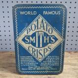 Blue Smiths potato crisps tin
