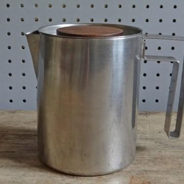 Modernist stainless steel tea set