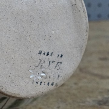 Stripe Rye Pottery jug