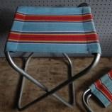 Stripy camping stools