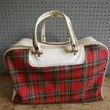 Tartan picnic bag