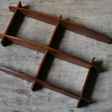Vintage teak shelf unit | H is for Home