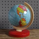 small tin globe