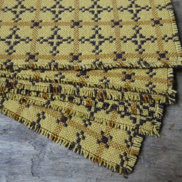 Vintage Welsh wool place mat set | H is for Home