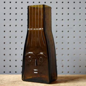Flygsfors Wiktor Berndt face glass vase
