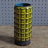 Yellow & black West German vase