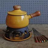 Yellow fondue set