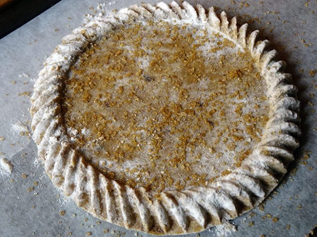 Muscovado shortbread mixture in vintage wooden mould | H is for Home