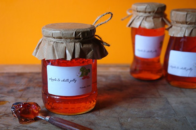 Jars of apple and chilli jelly | H is for Home