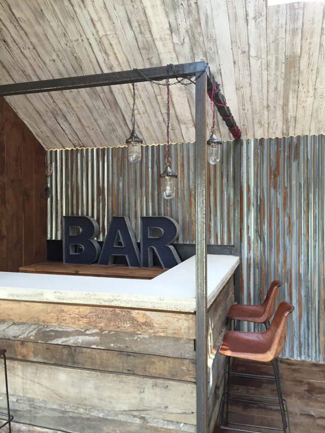Rustic, minimalist home bar