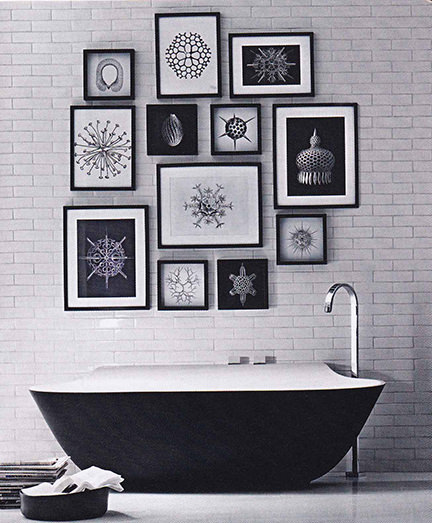 black & white monochrome bathroom