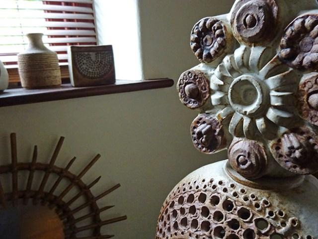 Vintage Bernard Rooke studio pottery floor lamp   H is for Home