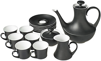 Vintage Bidasoa Block 'Noche' coffee set