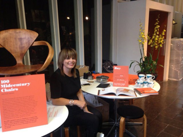 Lucy Ryder Richardson signing 100 Midcentury Chairs