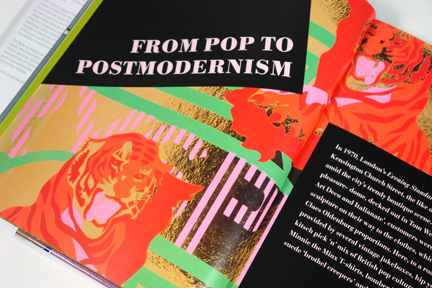 "page from the book, ""70s Style & Design"" entitled, ""Pop to Postmodernism"""