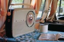page in My Cool Campervan featuring a Bush radio in a vintage campervan