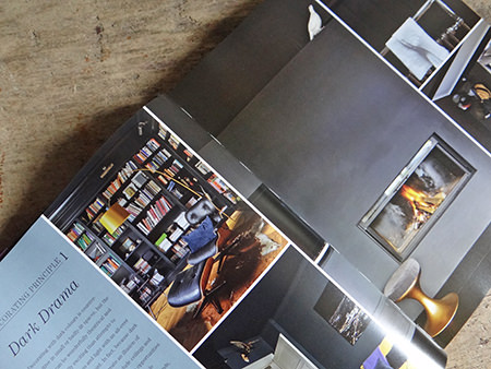 Dark Drama chapter from the Farrow & Ball 'Decorating with Colour' book by Ros Byam Shaw with photography by Jan Baldwin