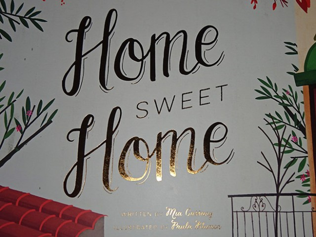 Front cover detail of Home Sweet Home children's book by Mia Cassany and illustrated by Paula Blumen | H is for Home