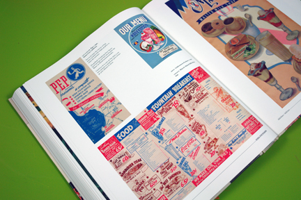 page from Menu Design in America