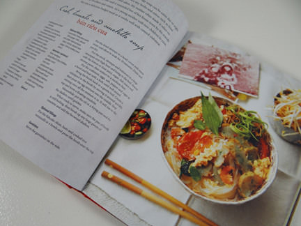"""omelette soup recipe in """"My Vietnamese Kitchen"""" cookery book"""