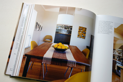 """large wooden table with runner from """"The Way We Live In the Country"""" by Stafford Cliff & Gilles de Chabaneix"""