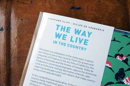"""inside front cover of """"The Way We Live In the Country"""" by Stafford Cliff & Gilles de Chabaneix"""