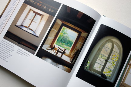 """page featuring different windows with deep sills from """"The Way We Live In the Country"""" by Stafford Cliff & Gilles de Chabaneix"""