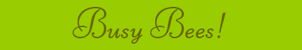 'Busy Bees!' blog post banner