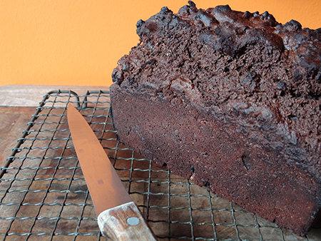 Home-made black bread loaf