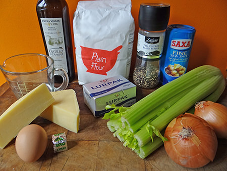 Cheese and celery pies ingredients
