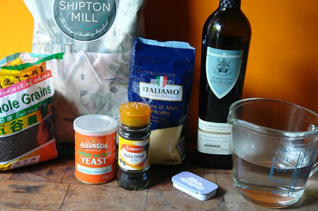 Home-made daktyla ingredients